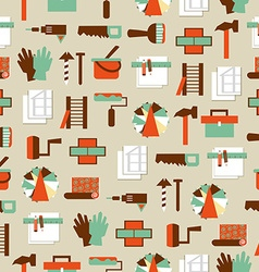 Seamless pattern working tools icons Home repair vector image vector image