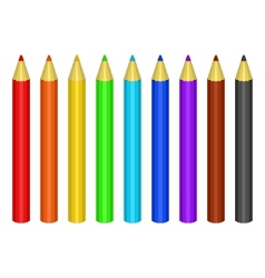 set of colour pencils vector image vector image