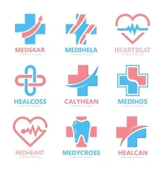 Set of medical cross logo Pharmacy logo design vector image vector image
