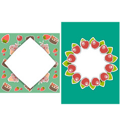 Set of two templates for birthday party wedding vector