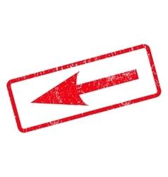 Sharp arrow left icon rubber stamp vector