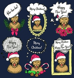 Sketch New Year monkey vector image vector image