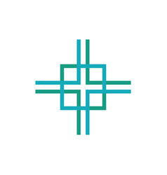 Square abstract logo vector
