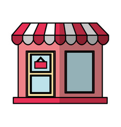 store building front isolated icon vector image