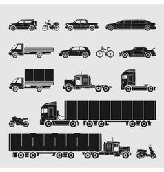 Symbol Set Car vector image