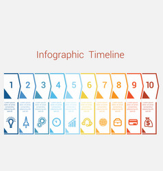 timeline infographic for ten position vector image