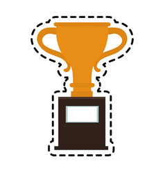 trophy cup icon image vector image vector image