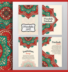 Vintage invitation and background design vector