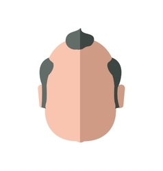 Grandfather male man hair grey icon vector