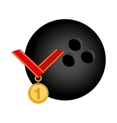 Medal first place championship vector
