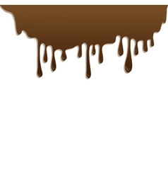 Chocolate streams isolated on white vector image