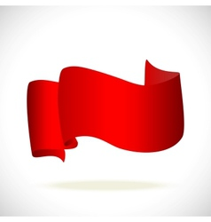 red banner for text isolated vector image