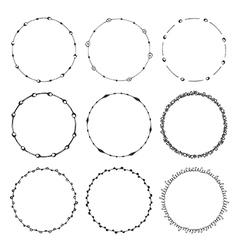 Hand drawn round frames design elements vector