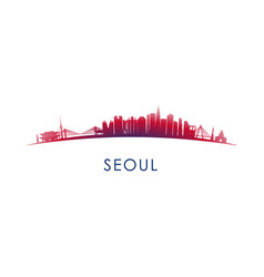 Seoul south korea skyline silhouette vector