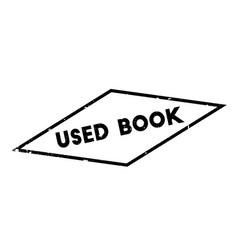 Used book rubber stamp vector