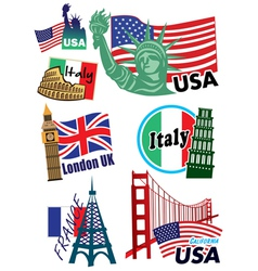 Country sticker vector image