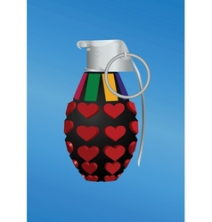 Heart-shape grenade icon vector image