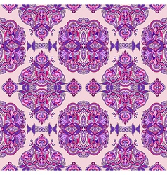 ornate floral seamless wallpaper vector image