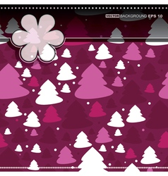 Decorative card with new year tree vector