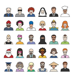 characters part2 vector image
