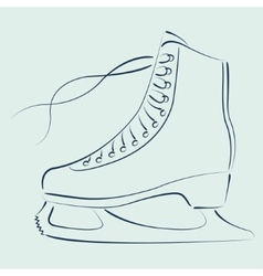 Sketched ice skates vector