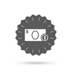 Cash sign icon money symbol coin vector