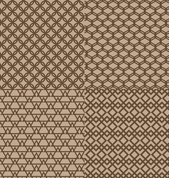 Seamless brown trellis pattern background vector