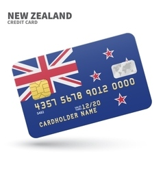 Credit card with new zealand flag background for vector