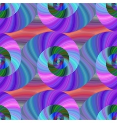 Spiral fractal pattern in bright colors vector
