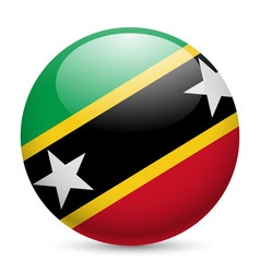 Round icon of federation of saint kitts and nevis vector