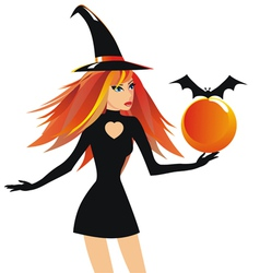 Beautiful witch vector