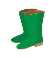 Rubber boots icon cartoon style vector
