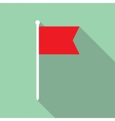 Flag flat icon vector