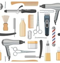 Beauty salon seamless pattern vector