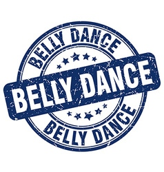 Belly dance blue grunge round vintage rubber stamp vector