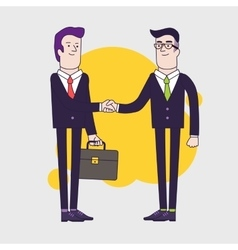 Businessmen shaking hands two businessmen have vector