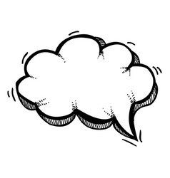 Cartoon image of speech bubble icon chat symbol vector
