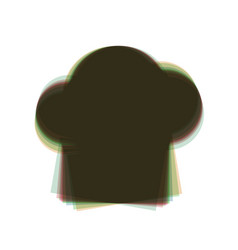 Chef cap sign colorful icon shaked with vector