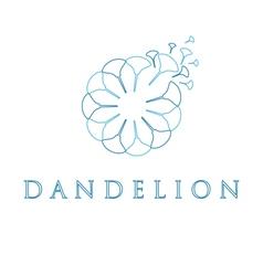 Dandelion in style monoline vector