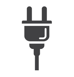 Electric plug solid icon power and appliance vector