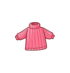 Flat baby kid knitted pullover vector