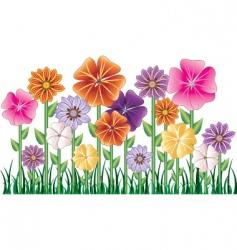 flower garden vector image vector image