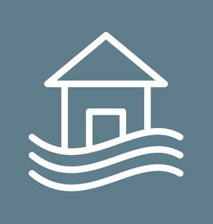 house in flood vector image