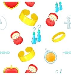 Jewelry pattern cartoon style vector image