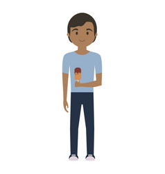 man with ice cream vector image