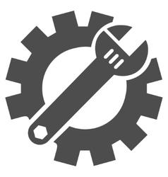Mechanics service tools flat icon vector