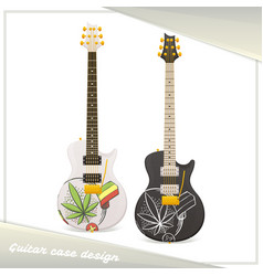Medical marijuana guitar nine vector