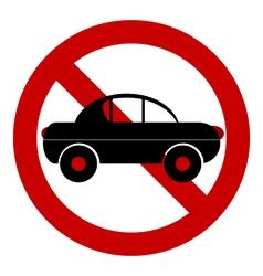 No car road sign vector image vector image