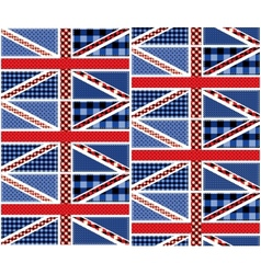 Patchwork of british flag vector image vector image
