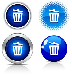 Recycle bin buttons vector